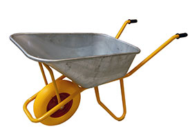 Image of   Betonbør 110 L. Punktérfri hjul