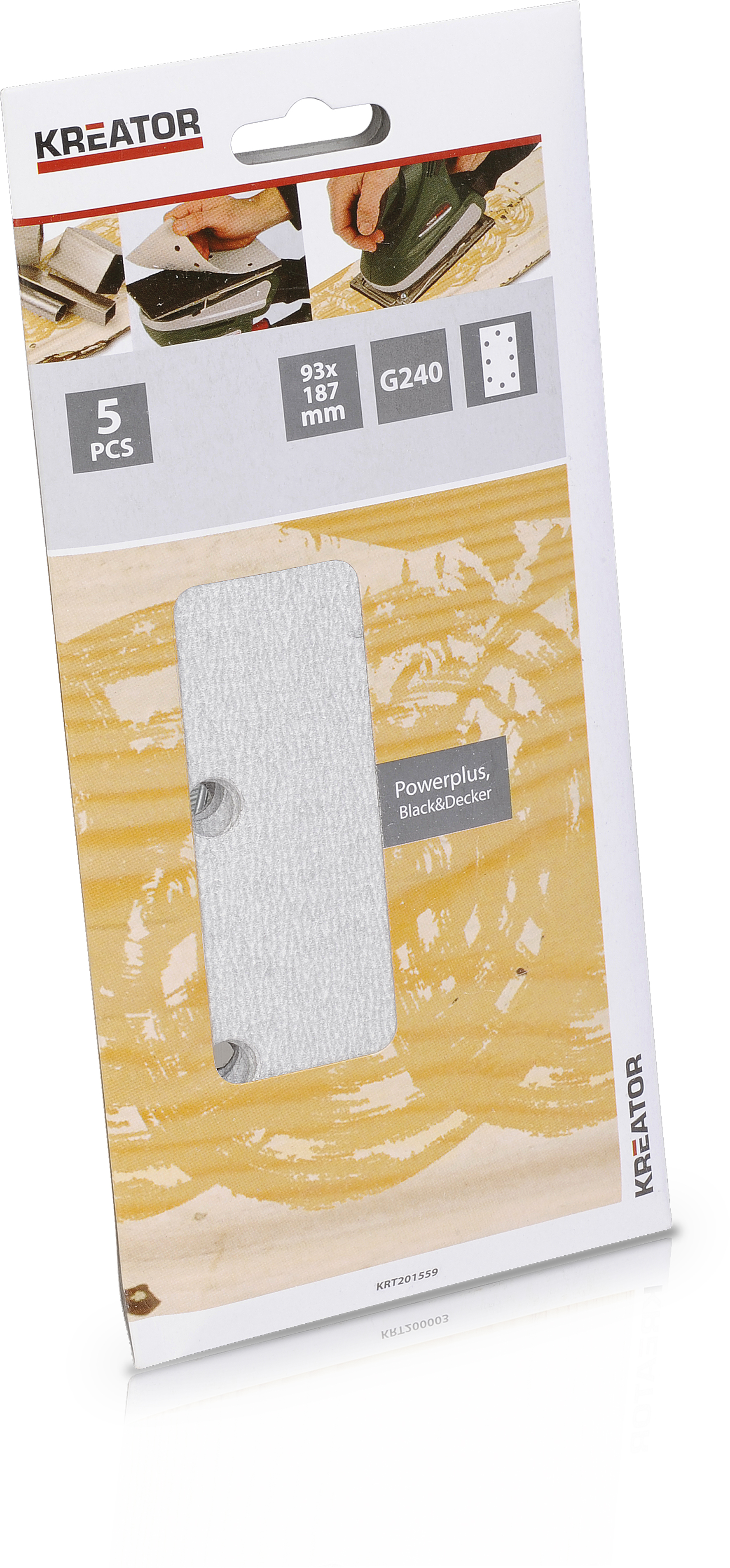 Kreator 5x Rystepudserpapir 93x187 mm