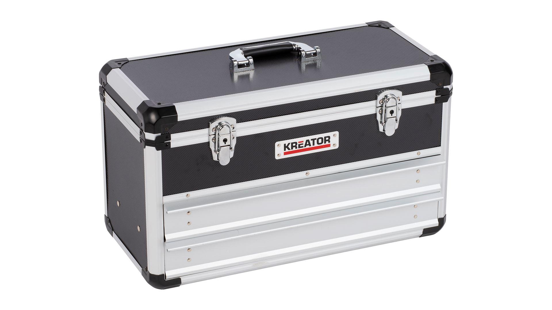 Image of   Aluminiums værktøjkasse med 2 skuffer