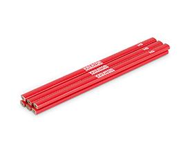 Image of   Tømrer blyant 245 mm rød - 6 stk