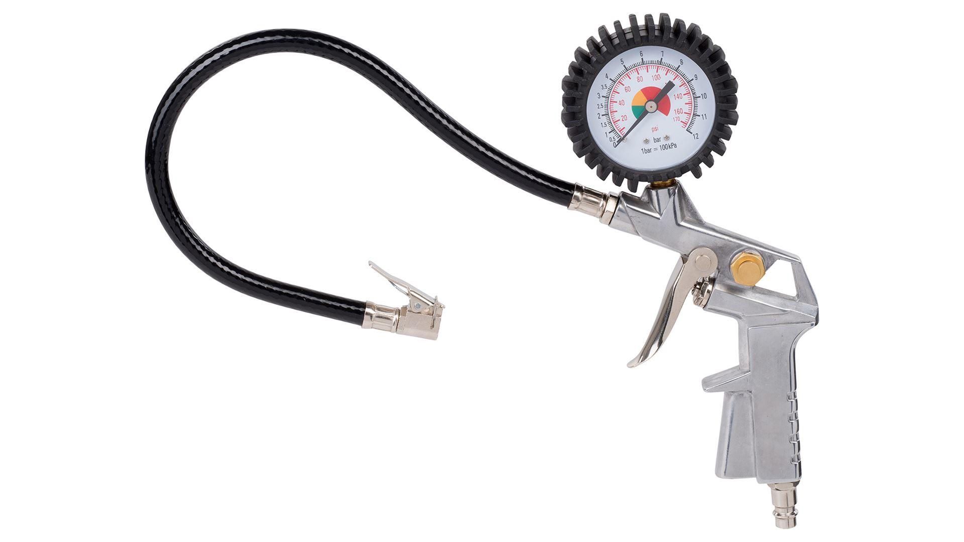 Image of   Trykluft pumpepistol med manometer