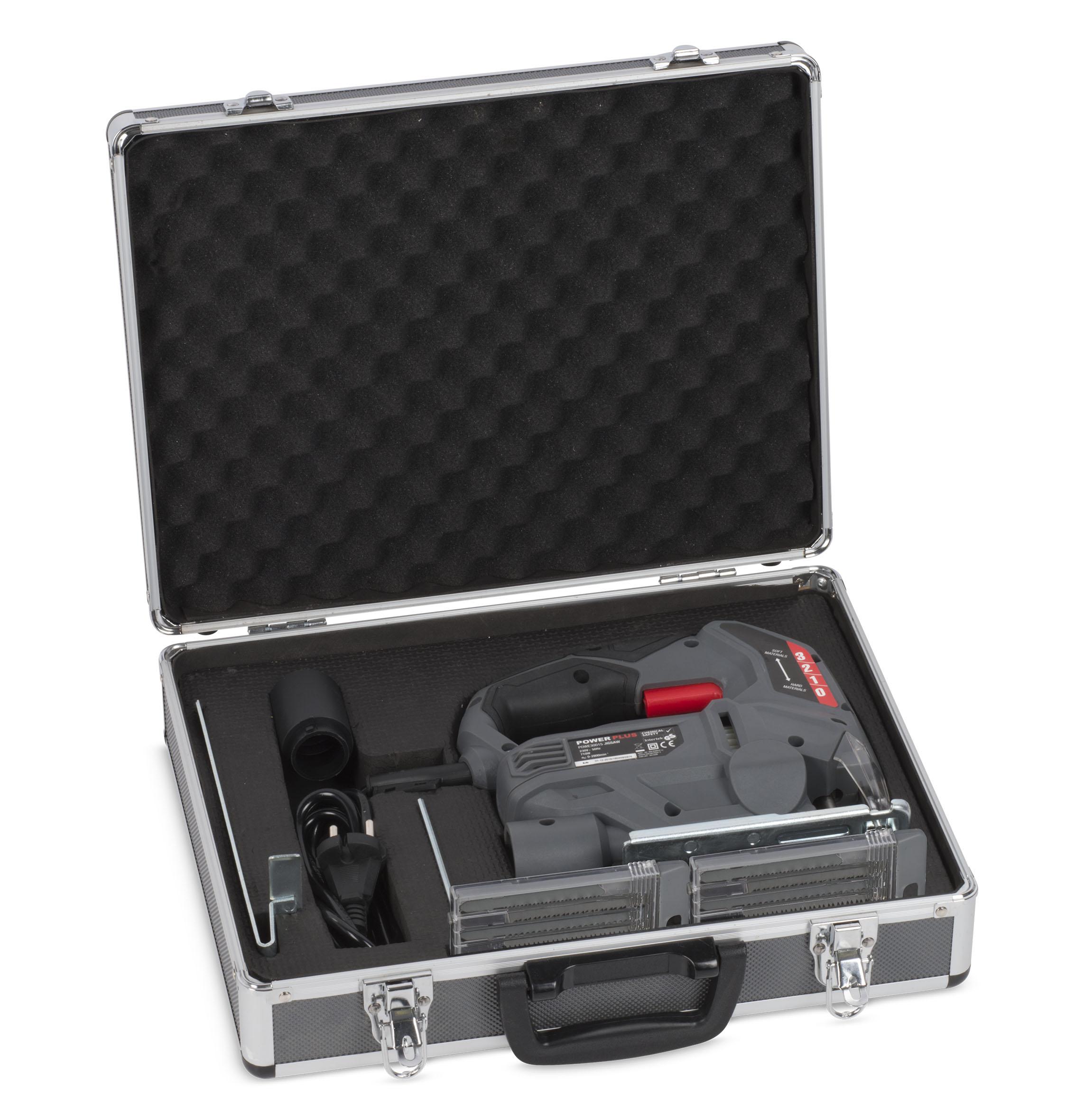 Stiksav 710 Watt i kuffert med 20 dele