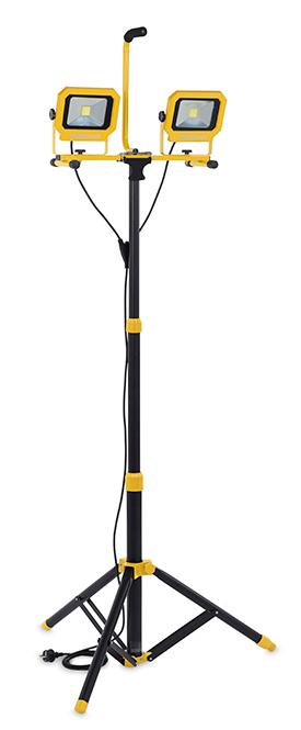 LED Arbejdslampe 20 dobbelt på stander
