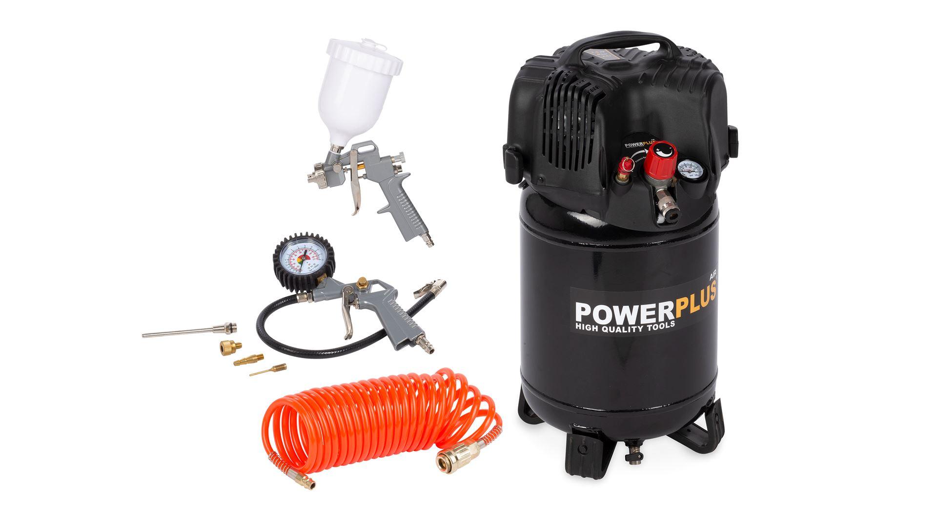 Image of   Kompressor 1,5 hk, 24 liter +7 dele
