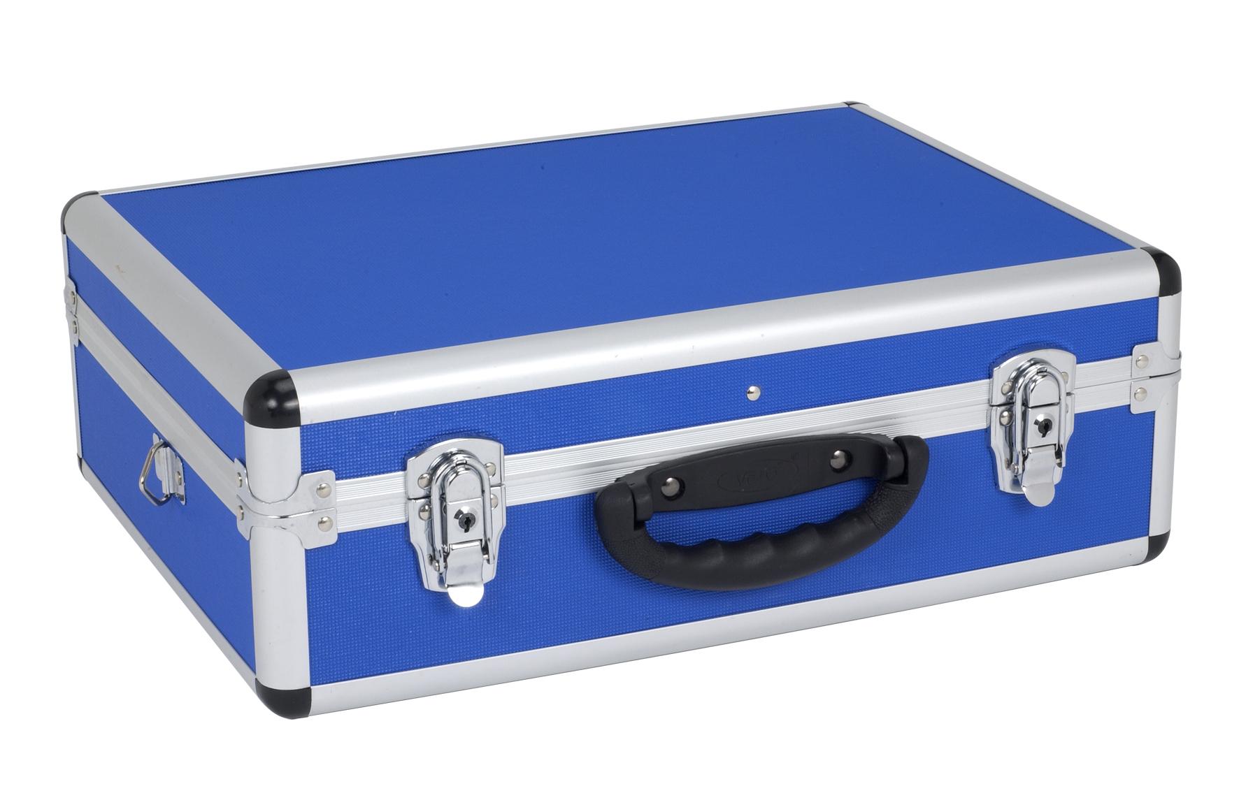 Image of   Aluminiums kuffert - blå 460x330x160 mm