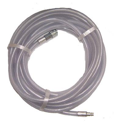 Klar PVC slange med hobby kobling