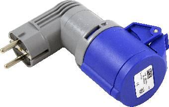 Image of   Adapter schuko-cee 216c6 blå