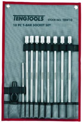 T-håndtagssæt 10 dele 7-19 mm