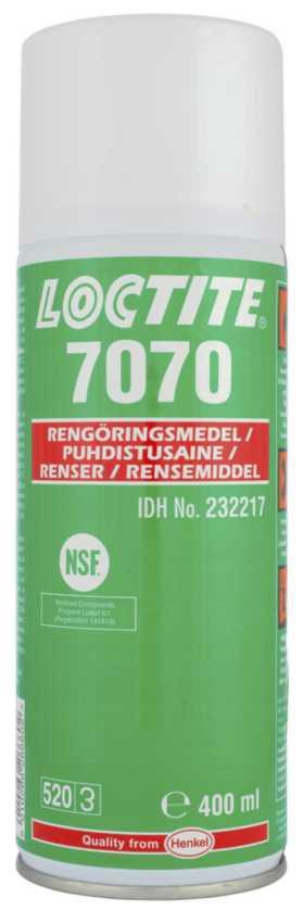 Image of   Rengørings-/affedtningsspray Loctite 7070