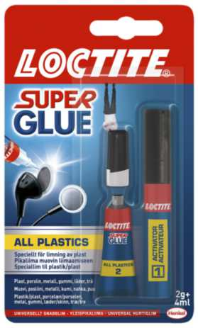 Image of   Hurtiglim SUPER GLUE ALL PLASTICS