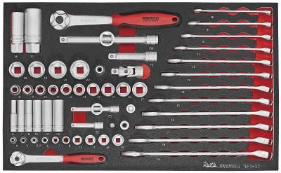 Image of   Værktøjssæt med 57 dele Teng Tools TEFSK57