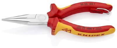 Image of   Fladtang med skævbider 1000-volt. Knipex 25 06 160 T
