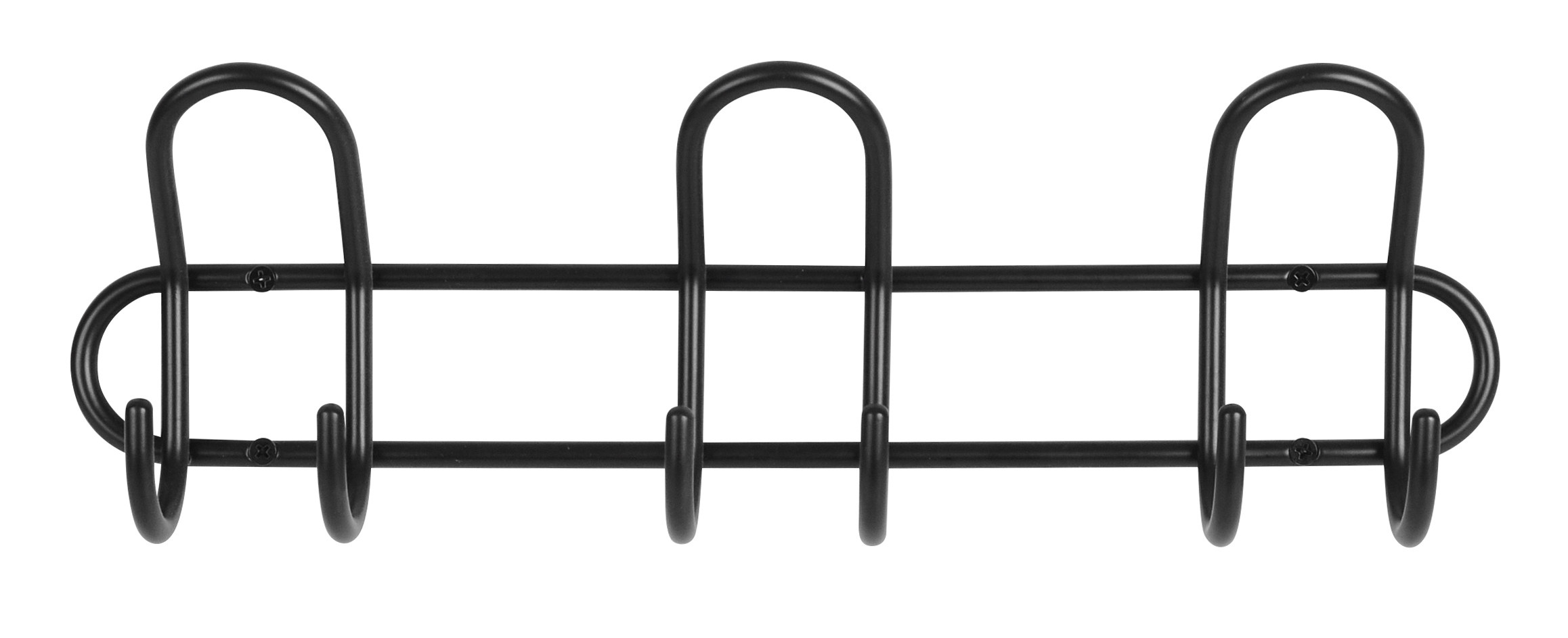 Image of   Knagerække P3 3-knage - sort