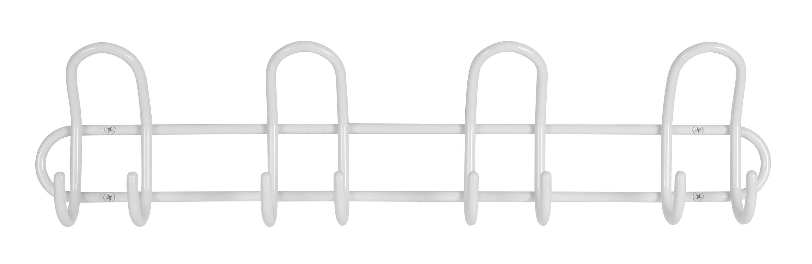 Image of   Knagerække P4 4-knage - hvid
