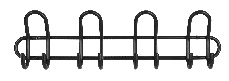 Image of   Knagerække C4 4-knage - sort