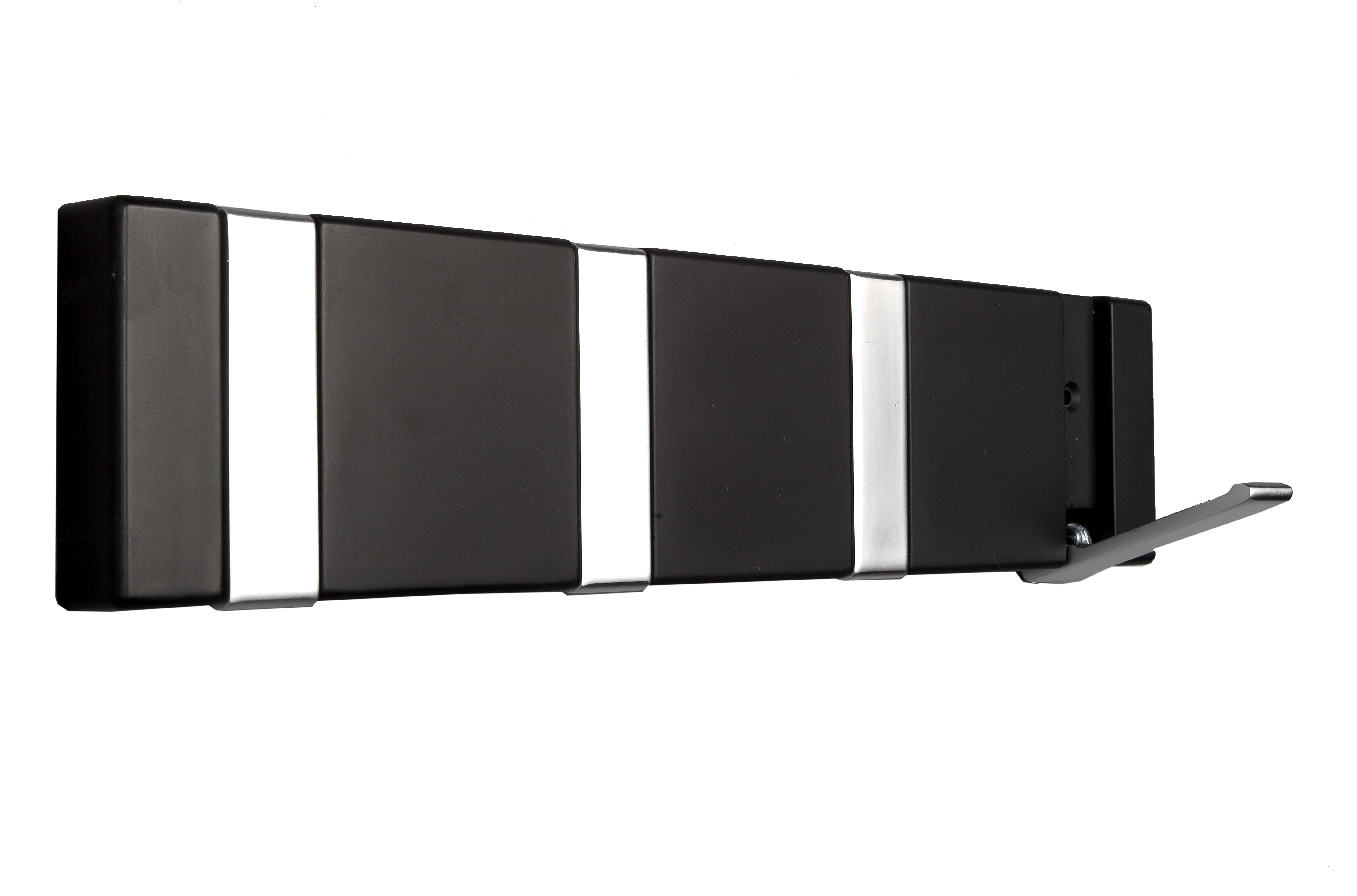 Image of   Knagerække 4-kn. FLEX - sort