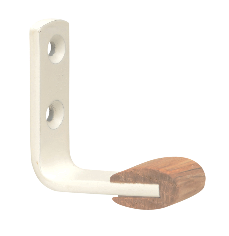 Image of   Lille knag i bøg - hvid