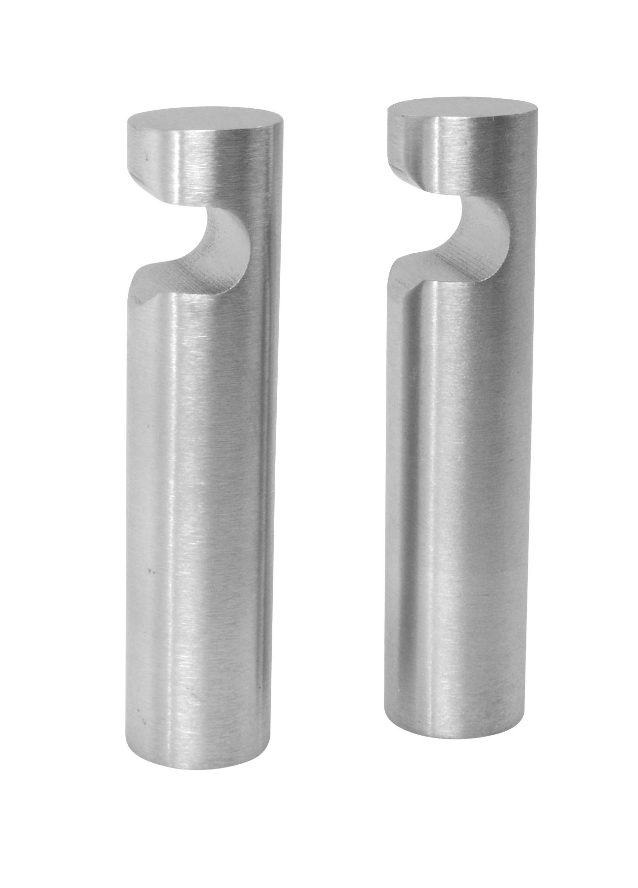 Image of   Klædekroge 2 stk. 60 mm. - rustfri stål
