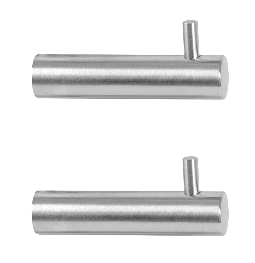 Image of   Klædekrog med tap 2 stk. 60 mm. - rustfri stål