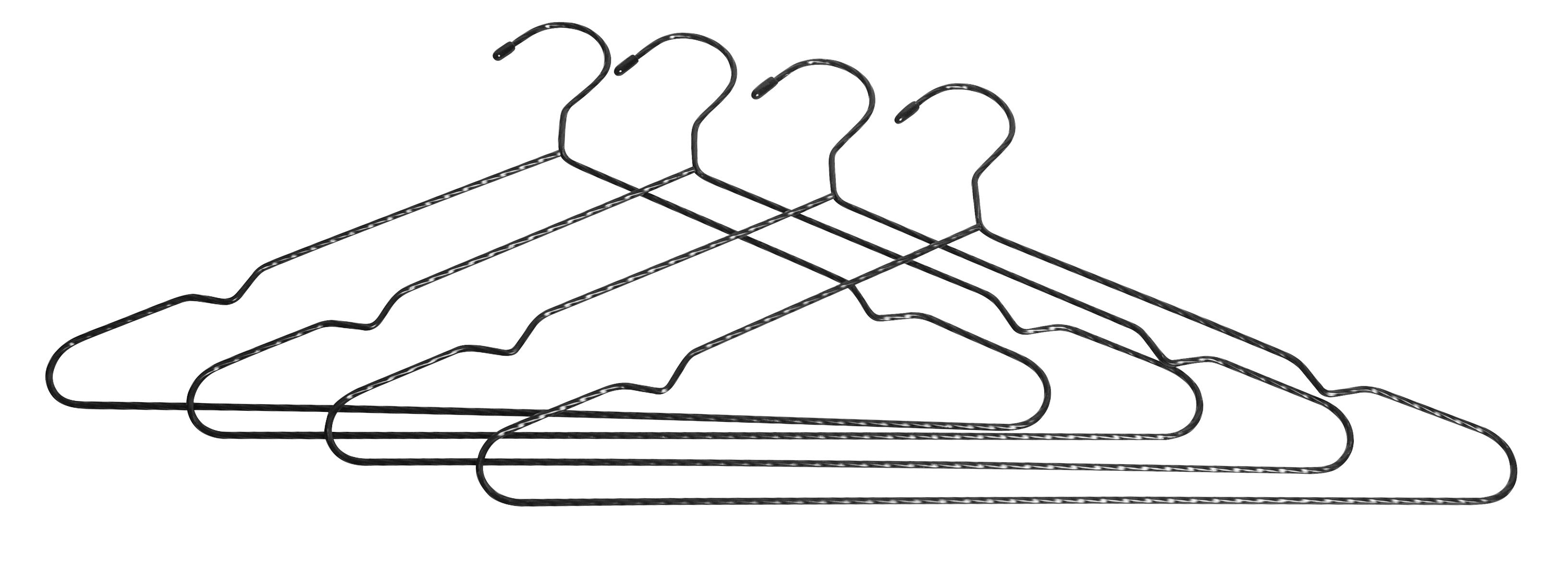 Image of   Bøjle, snoet, sort - 4-pak