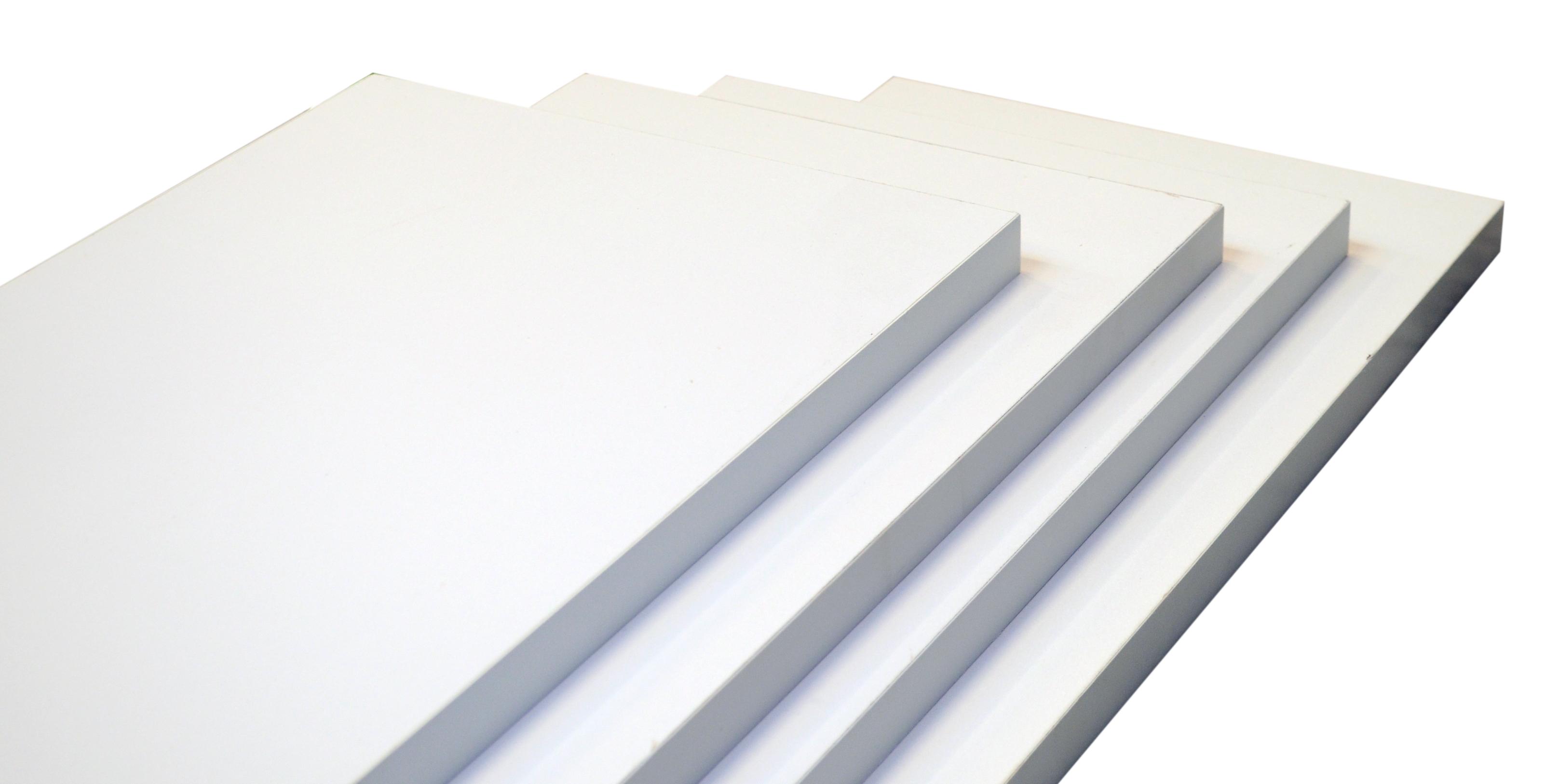 Image of   Hylde 80x30x2,5 cm. - hvid