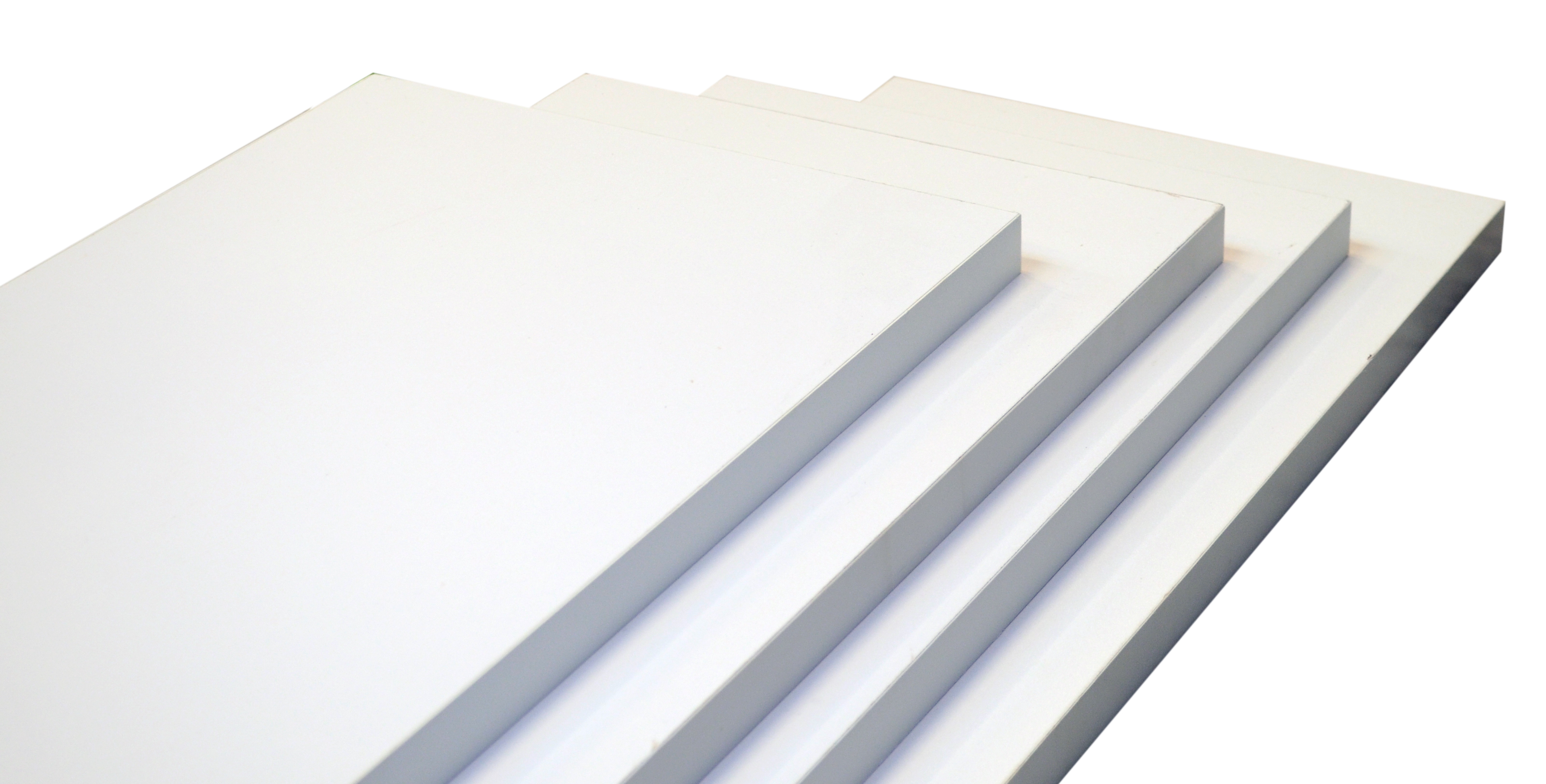 Image of   Hylde 100x30x2,5 cm. - hvid