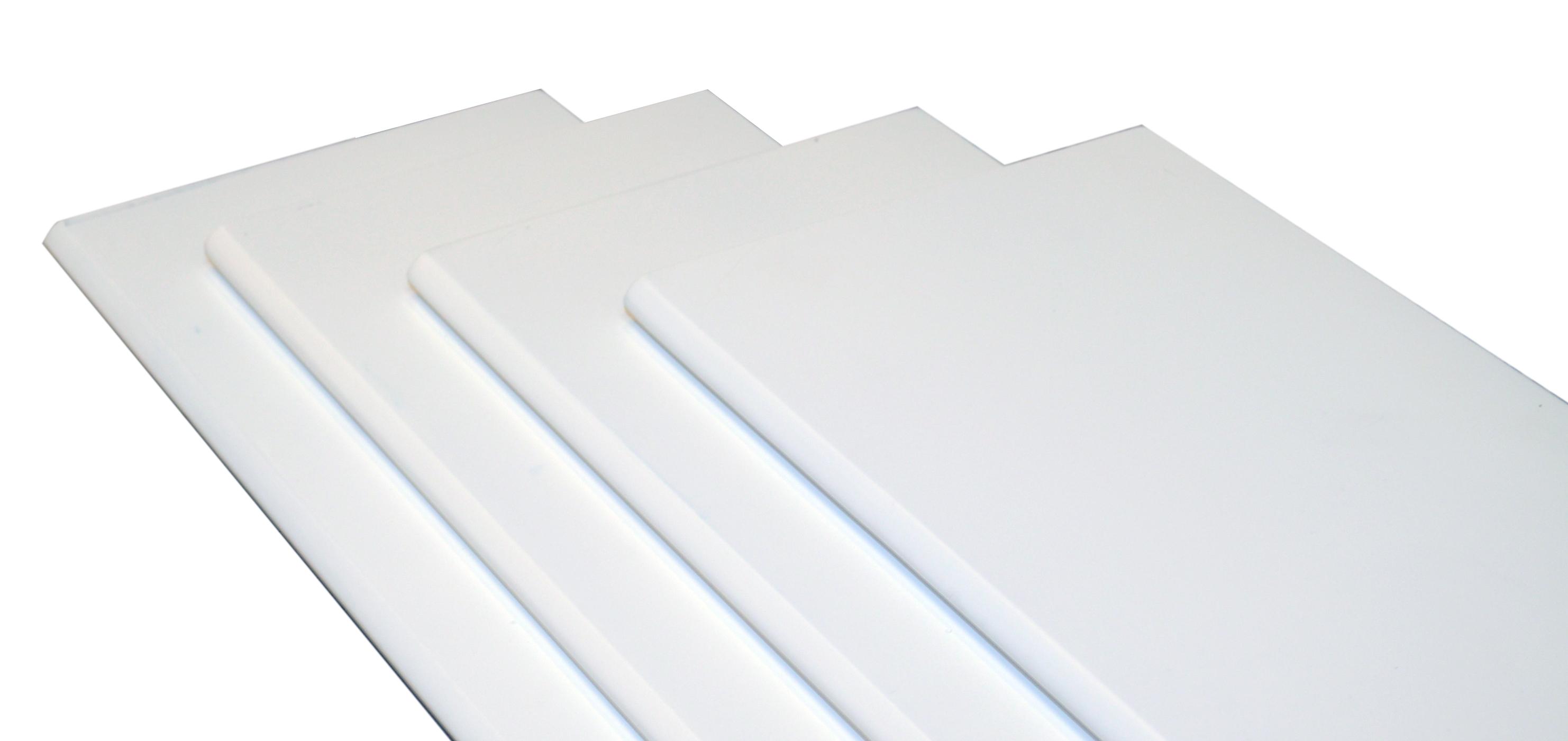 Image of   Hylde M-design 100x20x1,5 cm. - hvid