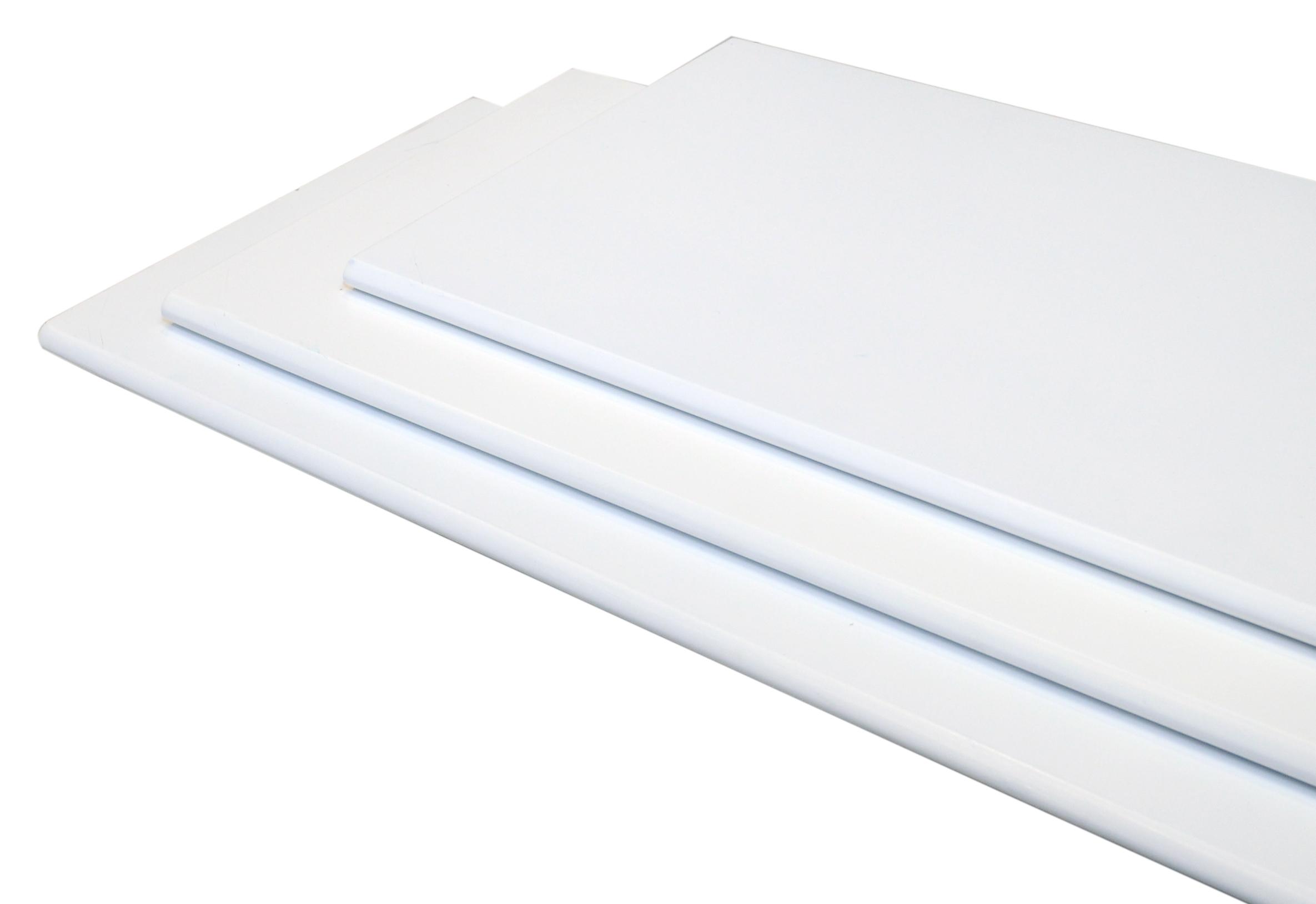 Image of   Hylde M-design 100x30x1,5 cm. - hvid