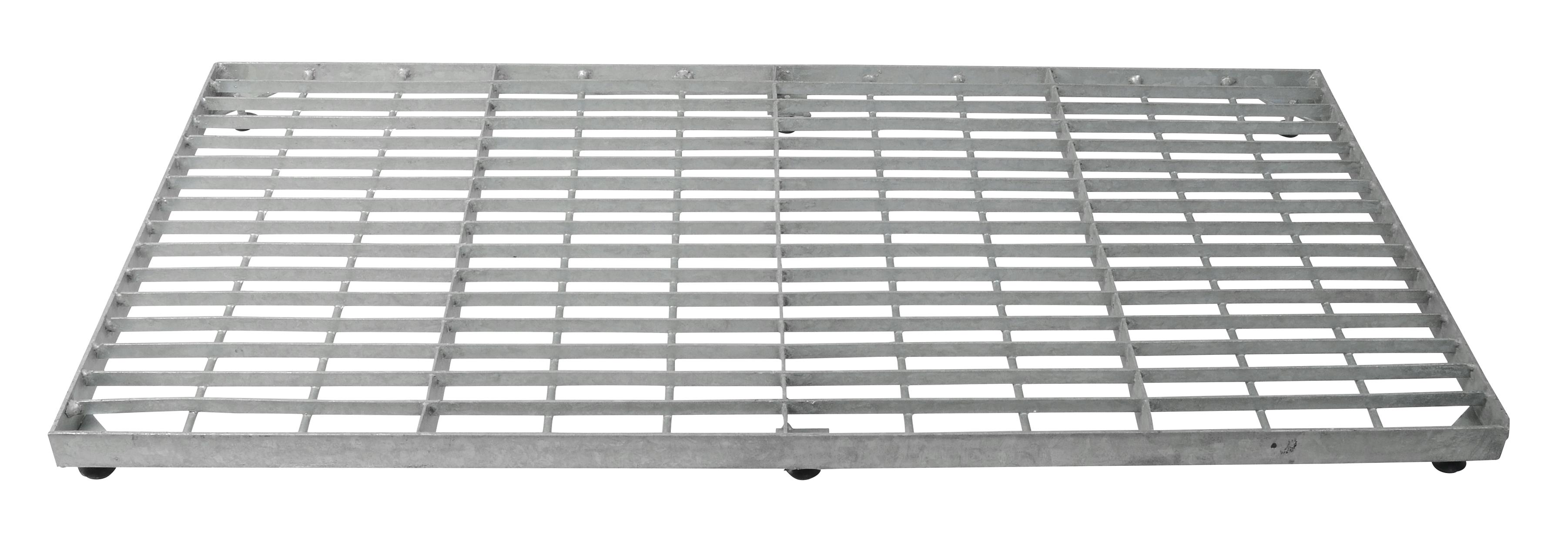 Trinrist firkantet 40x80 cm- galvaniseret