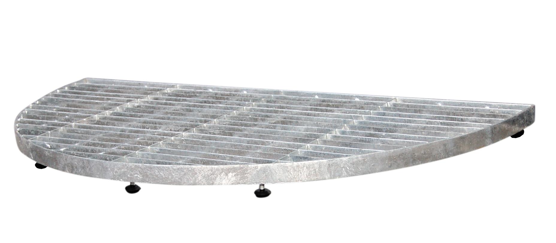 Image of   Trinrist halvrund 40x80 cm- galvaniseret