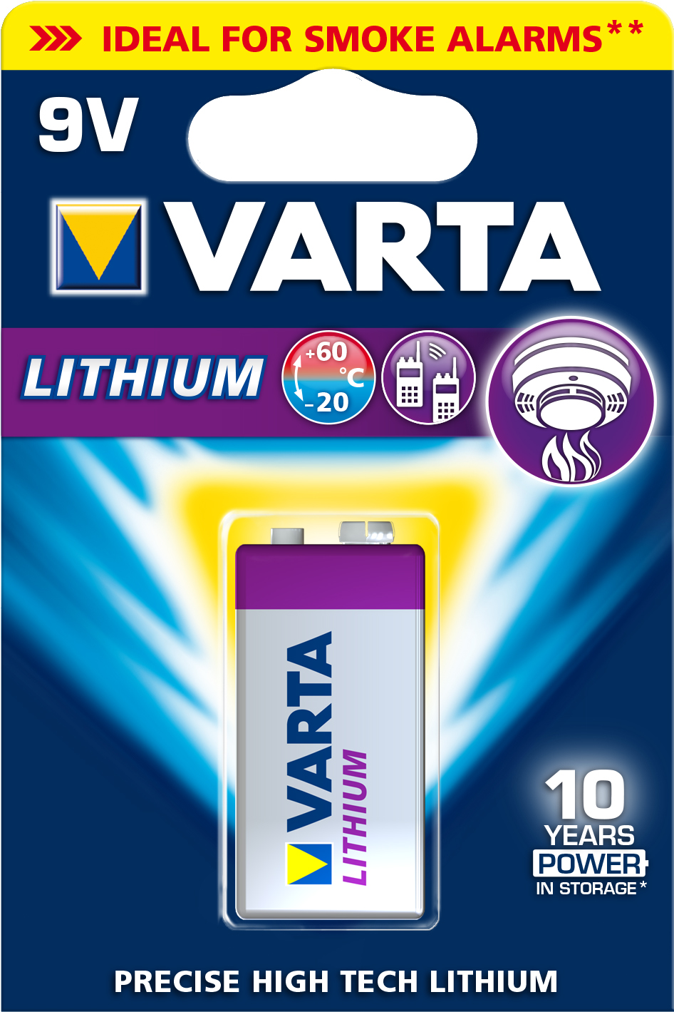 Image of   Batteri ultra lithium 9v