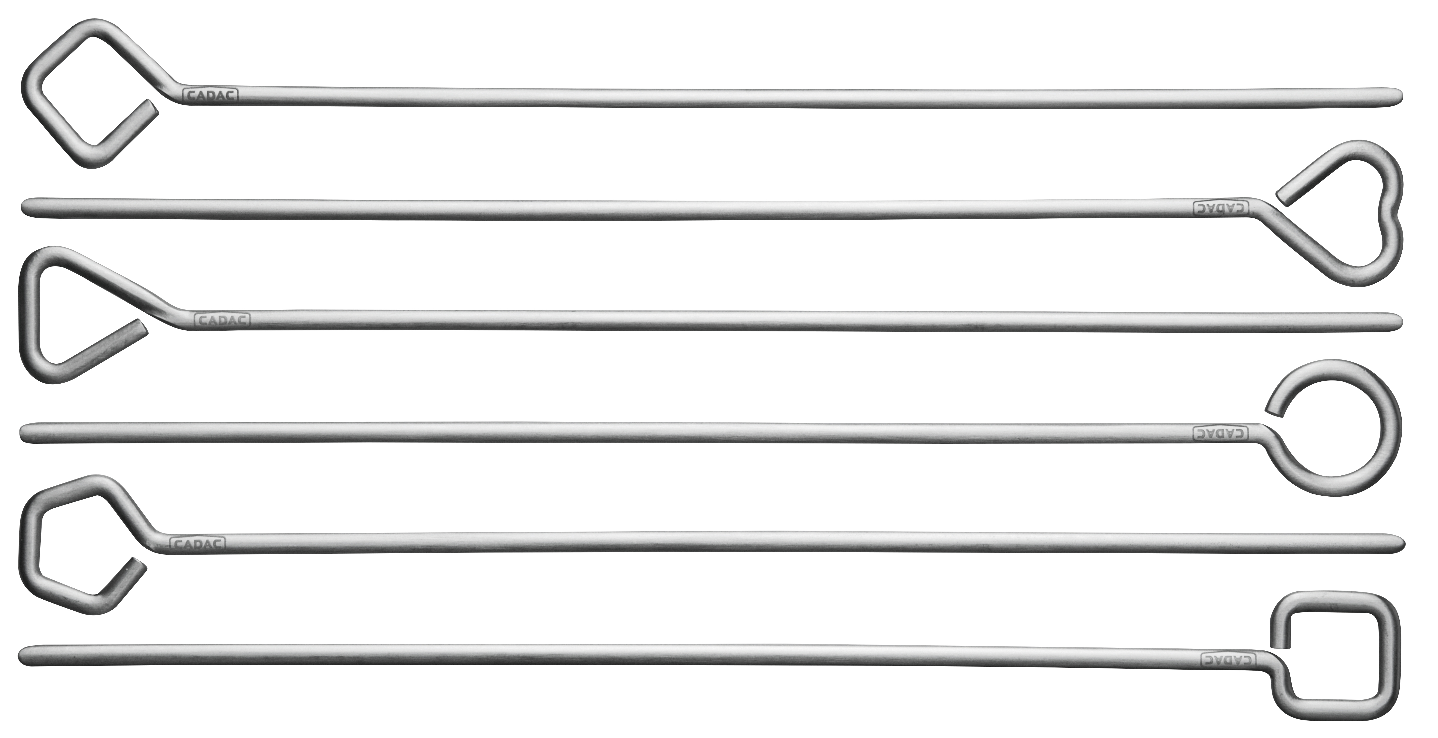 Image of   Grill spyd 6stk - Kraftig rustfri stål L30cm