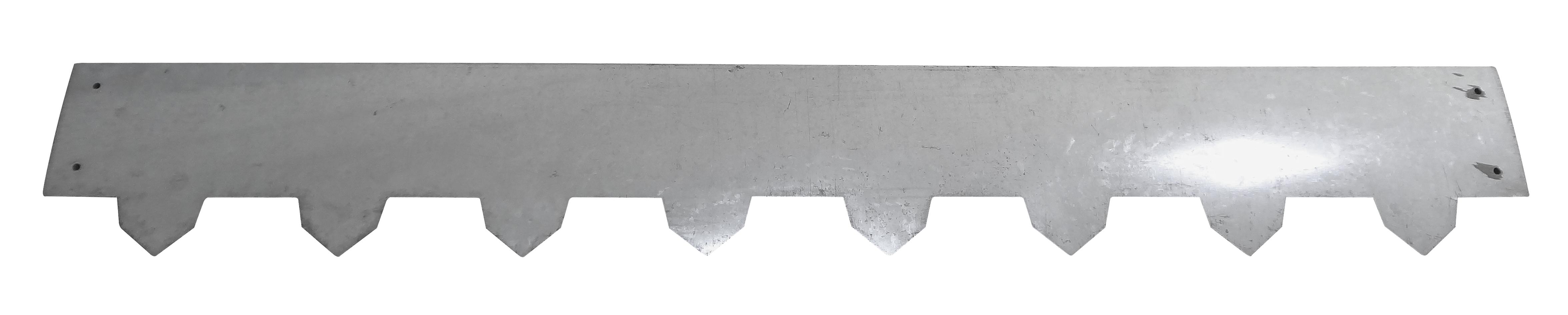 Image of   Bedafgrænser galvaniseret - 100x14cm