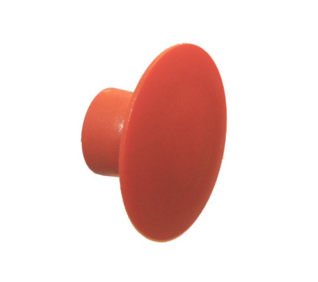 Knag rund U-design Ø50 mm. - orange