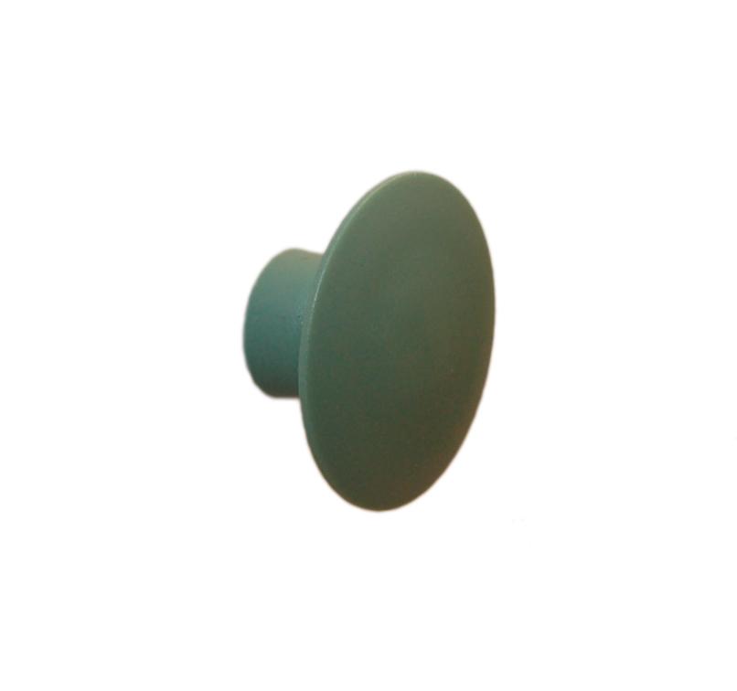 Knag rund U-design Ø50 mm. - støvet grøn