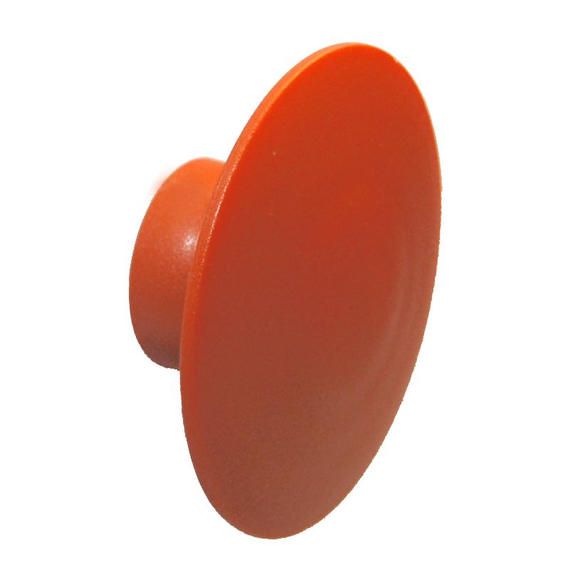 Knag rund U-design Ø80 mm. - orange