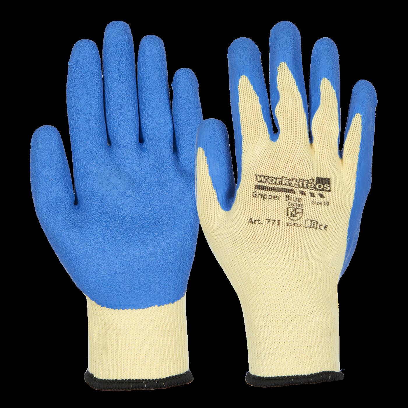 Worklife Gripper Blue handske str. 10