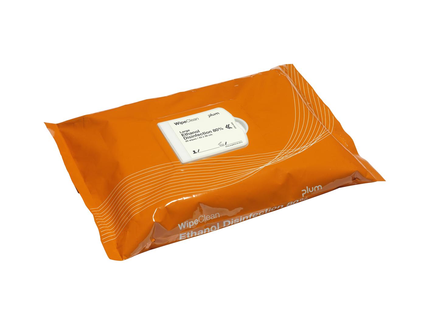 Wipeclean Plum Ethanol 80 % 25 stk