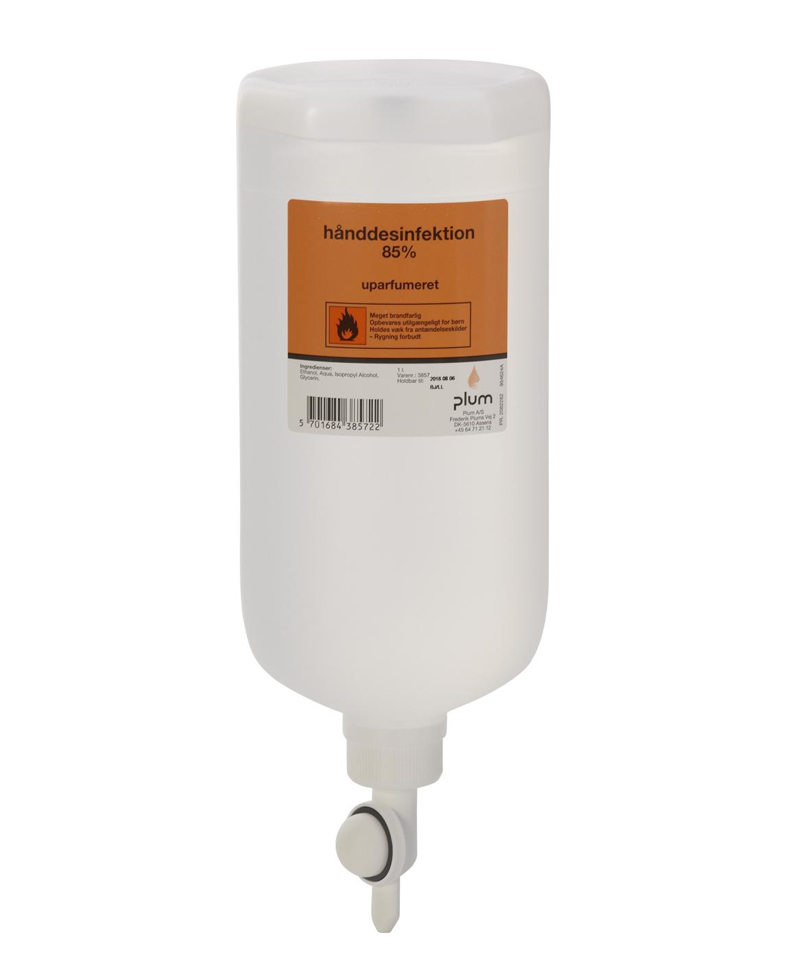 Håndsprit Desinfektion Plum 85% flydende 1 l