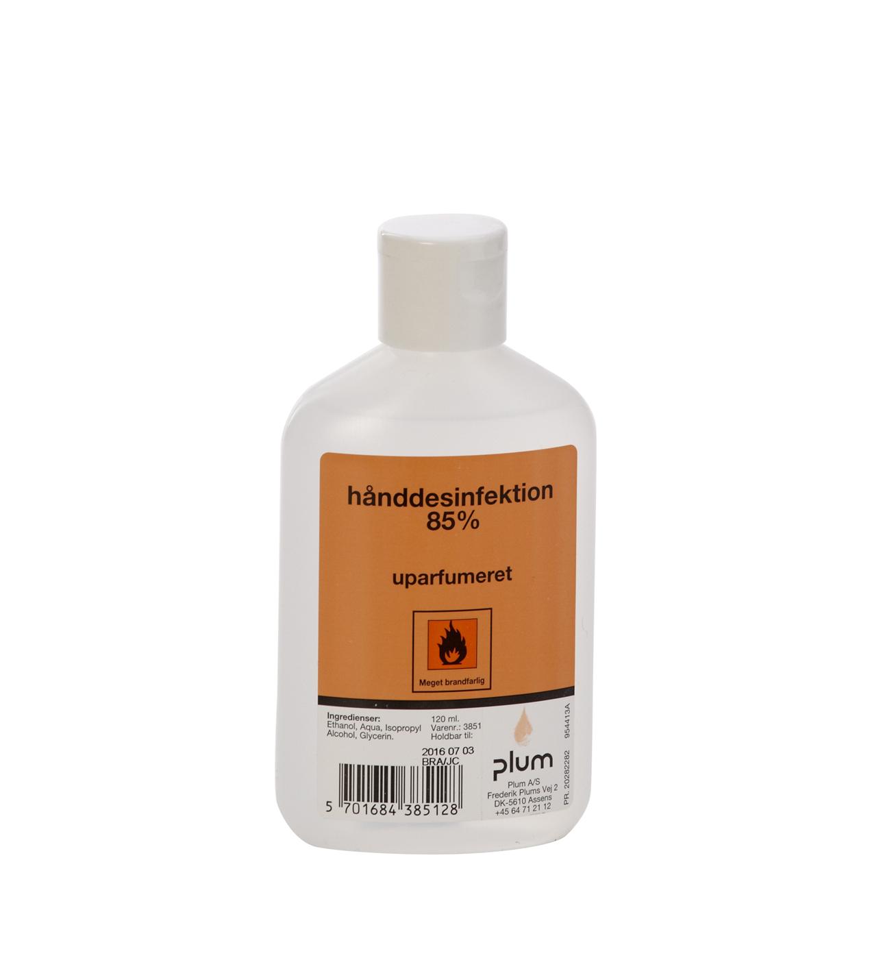 Håndsprit Desinfektion Plum 85% flydende 120ml