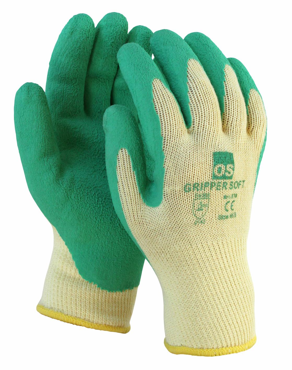 Image of   Gripper Soft, grøn arbejdshandske