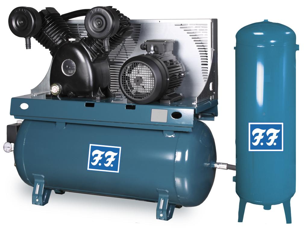 Stempelkompressor Reno FF 830/90 med ekstra tank