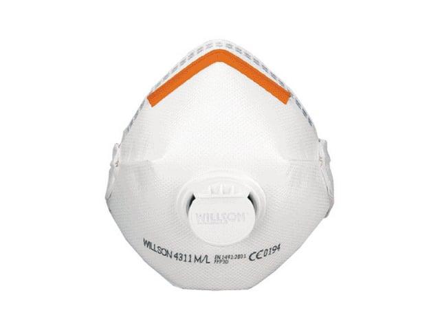 Image of   Filtermaske Willson FFP3D 4311 med ventil - 10stk