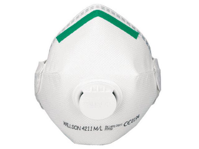 Image of   Filtrerende halvmaske Willson FFP2D 4211 med ventil - 10stk