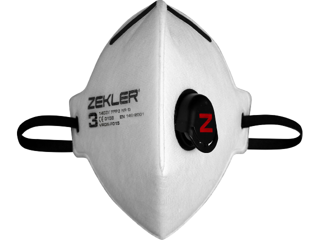 Image of   Filtrerende halvmaske Zekler 1403V FFP3 - 15 stk