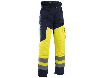 Image of   Skærebukser/sikkerhedsbukser, Hi-Vis Gul/Marineblå Blåkläder