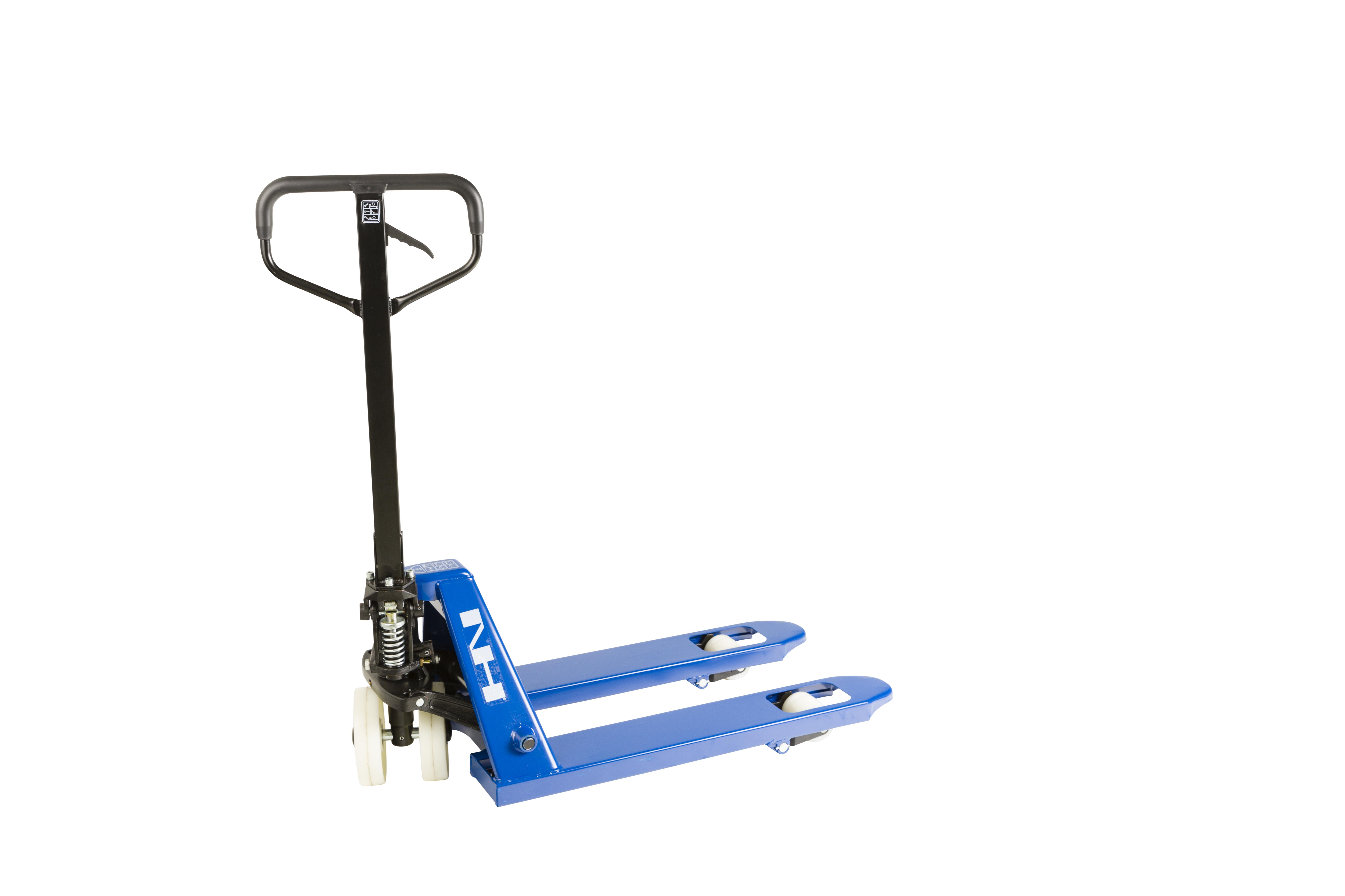 Image of   PLM2508EN - Pallevogn m/enkel nylonhjul og korte gafler