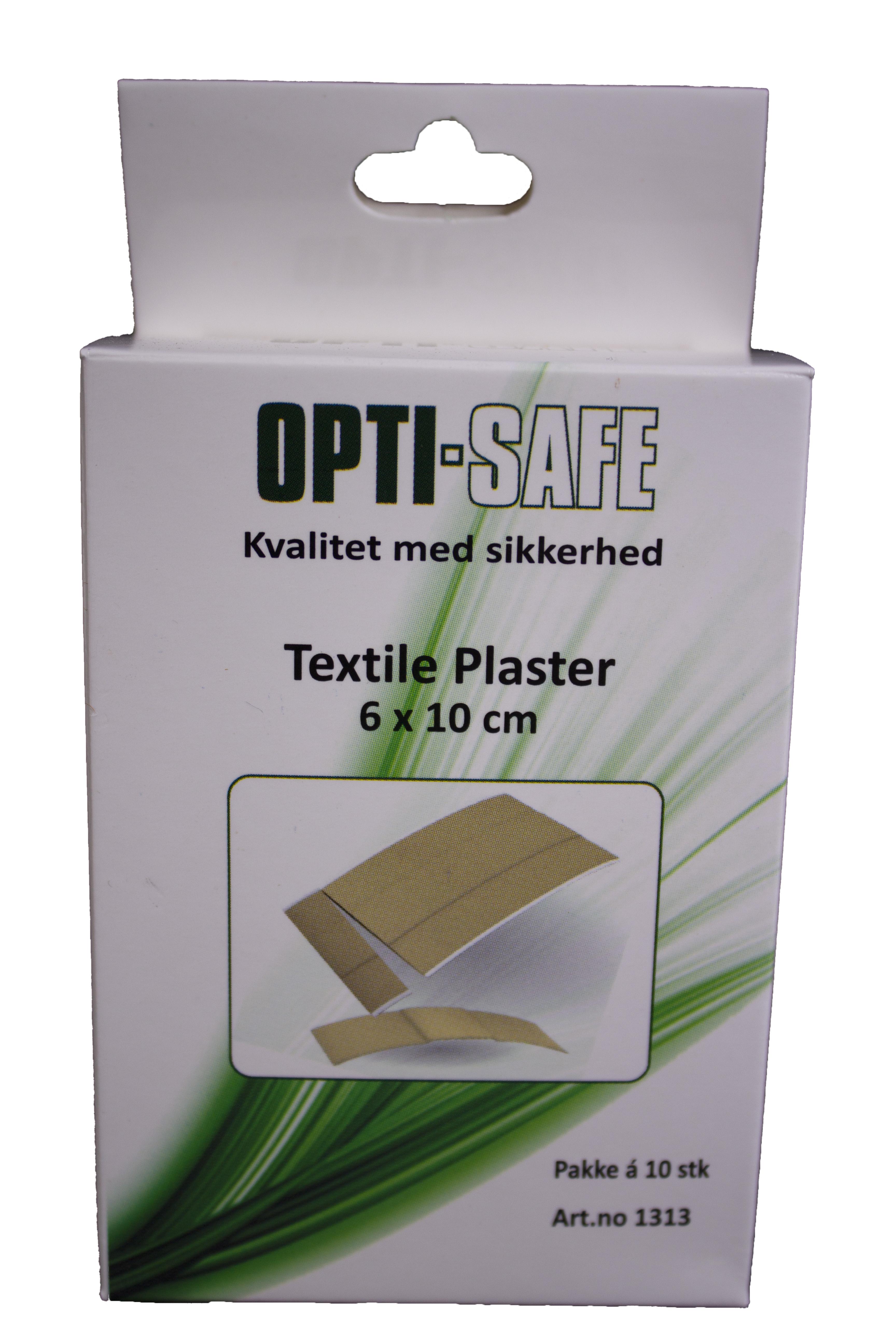 Image of   Texstil plaster, 6cm x 10cm, pakke á 10 stk.