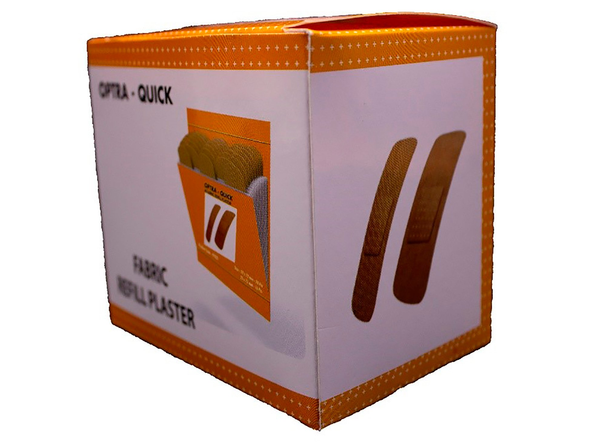 Image of   OPTRA-Quick Refill alm.tekstil fabrik Plaster 6x40 stk