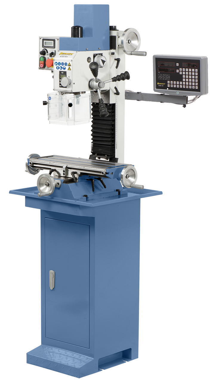KF 25 D Vario Bernardo bore-fræsemaskine med 2 akset digital udlæsning